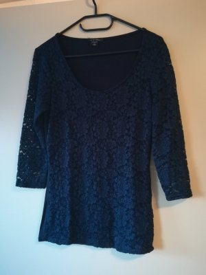 Amisu Blusa in merletto blu scuro
