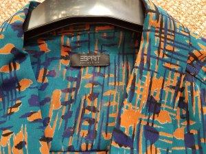 esprit collection Blouse sans manche bleu-orange clair polyester