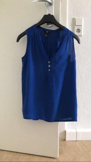 Damenbluse ärmellos in blau
