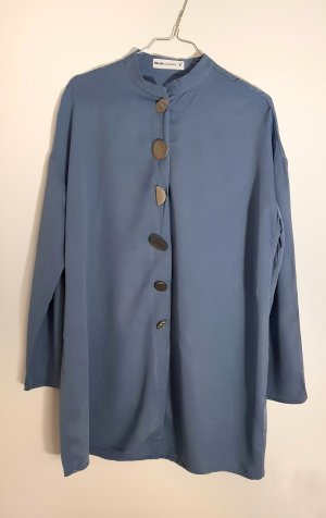 Oversized blouse azuur