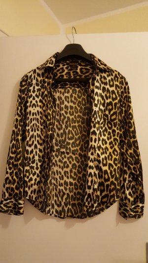 Damenbluse Leopard-Look