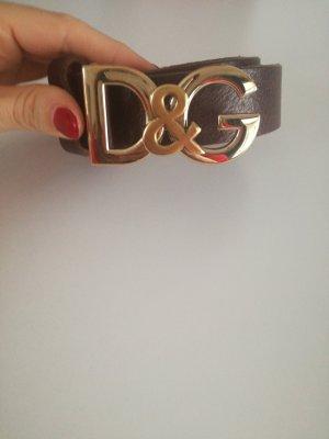 Dolce & Gabbana Leather Belt black brown leather
