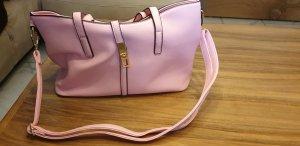 Bolsa de hombro color rosa dorado