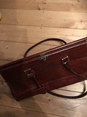 Damenhandtasche, BOL PERDIX Doktortaschen-Design, Weekender, Maulbügelverschluss