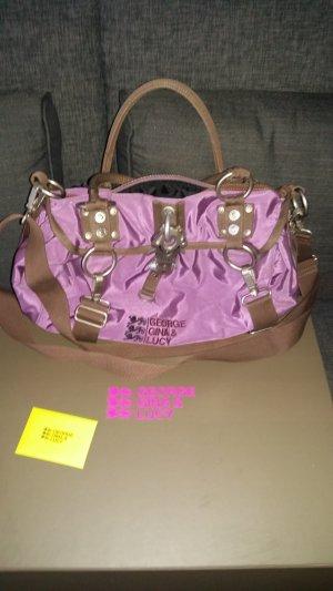 Damenhandtasche - Georgina & Lucy - Lilafarben mit Staubbeutel und Geschenkebox