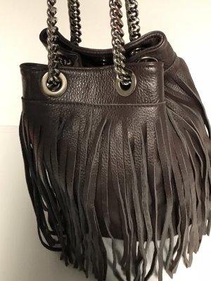 Damenhandtasche HUGO Beutelform lange Fransen, Genuine Leather 100% Leder, unbenutzt