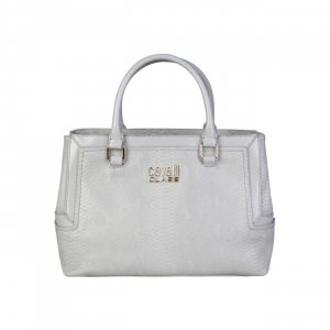 Roberto Cavalli Carry Bag white imitation leather