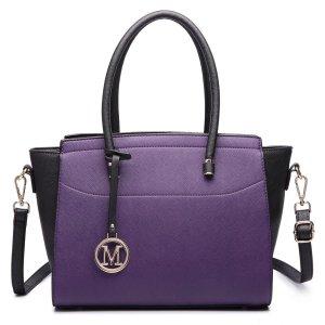 Frame Bag dark violet imitation leather