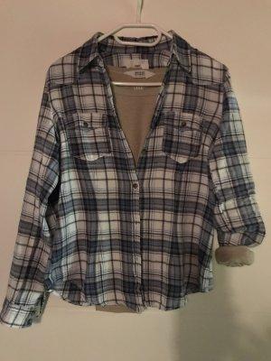 Damenhemd Gr 38 blau/beige/wollweiss