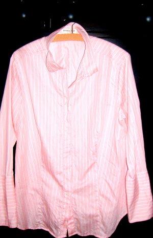 Damenhemd Streifen Weiss  auf Rosa