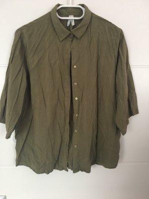 Defacto Camicia a maniche corte grigio-verde