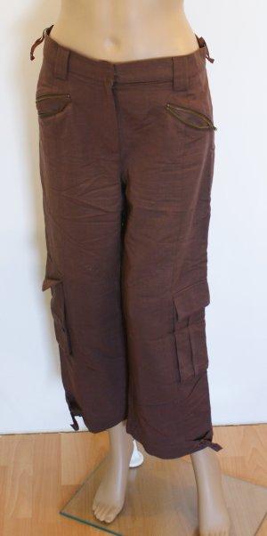 Damenhose, 7/8-Hose, gerades Bein, braun, Gr. 38