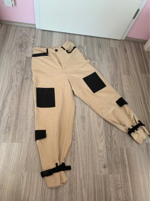 SheIn Baggy Pants black-camel