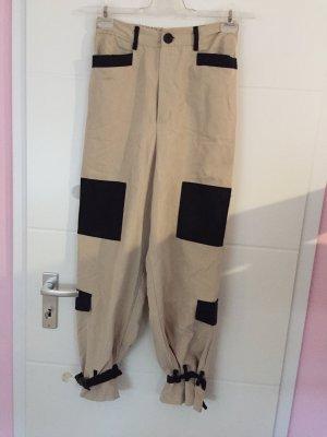 SheIn Pantalone boyfriend crema-nero
