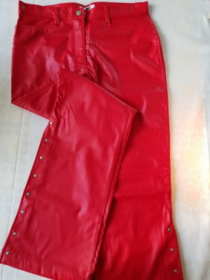 Leather Trousers red