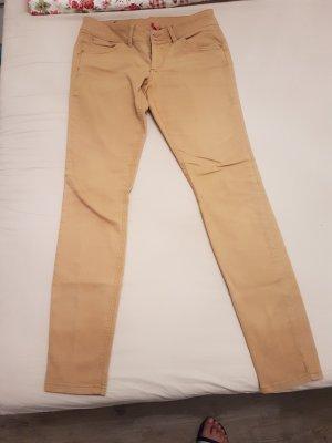 Damenhose Jeans sandfarben