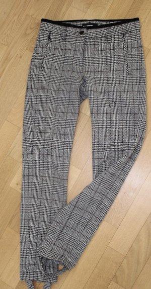 Cambio Pantalon fuseau noir-blanc polyamide