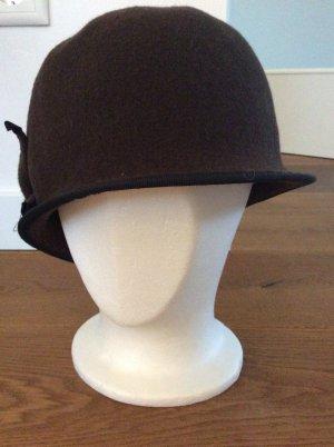 Cappello di lana marrone-nero