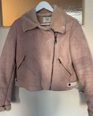 Bershka Giacca di pelliccia color oro rosa