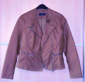 Only Biker Jacket cognac-coloured imitation leather