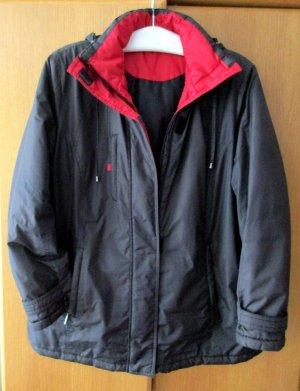 Damenjacke Herbst Winterjacke Damen Anorak Outdoor Jacke schwarz rot abgesetzt