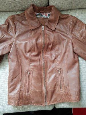 Damenjacke Lederjacke, kurz, Braun Gr. 36