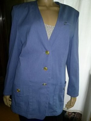 ara Denim Blazer steel blue mixture fibre