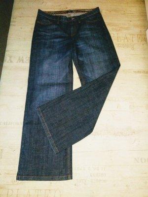 Jette Boot Cut Jeans blue-dark blue cotton