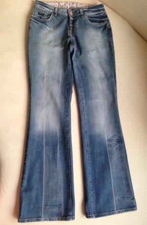 Trousers cornflower blue cotton