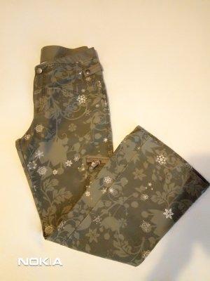 Pantalón de campana marrón grisáceo-marrón arena