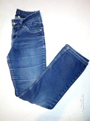 Multiblu Lage taille broek blauw