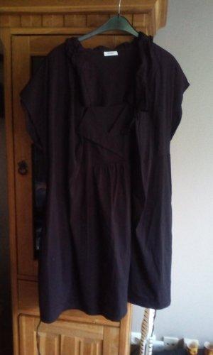 Damenkleid Ballonkleid schwarz variabler Kragen Ärmellos Gr. 52/54 neu