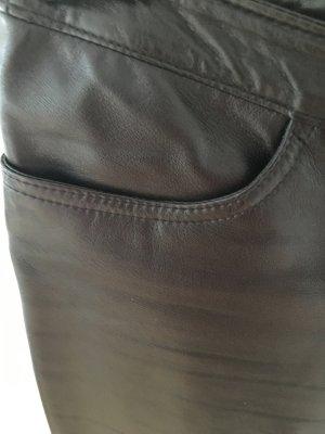Damenlederhose, schwarz