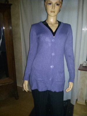 Chaleco de punto violeta azulado Acrílico