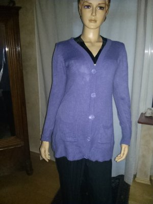 Gebreid vest blauw-paars Acryl