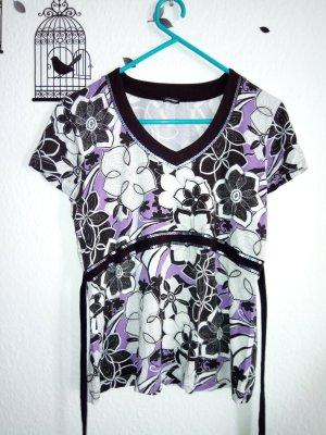 Gerry Weber T-shirt col en V noir-violet