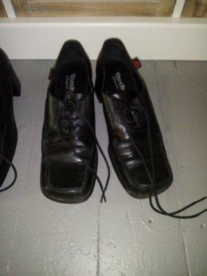 Dockers Tacones con cordones negro Cuero