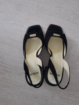 Damenpumps/Sandaletten in Schwarz Gr. 38