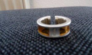 Esprit Ring zilver-lichtbruin