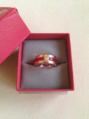 Gouden ring goud-donkerrood