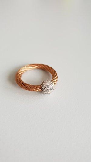 Anello argento-color oro rosa