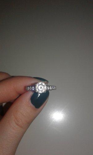 Viventy Zilveren ring zilver-wit
