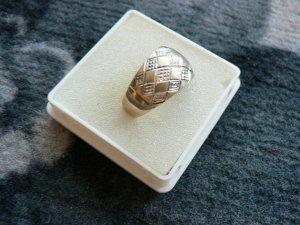 Damenring Weiß & Gelbgold 585