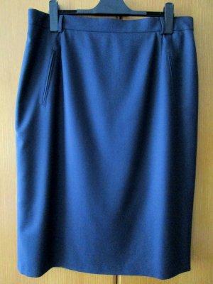 Damenrock dunkelblau Schurwolle Wolle Woll Rock blau Gr. 50