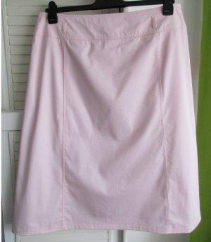 Basler Jupe stretch rose clair coton