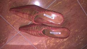 Maripé High Heel Sandal dark red-camel leather