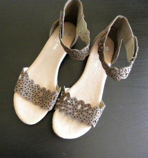 Rieker Sandales confort chameau cuir