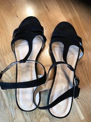 Damensandaletten schwarz, Größe 41, neuwertig