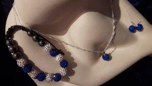 Damenschmuckset Shamballa Kette, Armband und Ohrringen