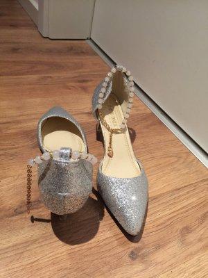 Zapatos formales color plata